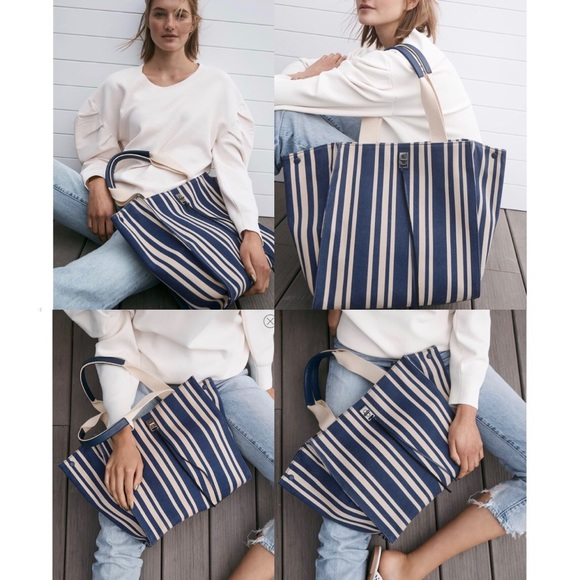 Rebecca Minkoff Handbags - NWT Rebecca Minkoff Darren Tote Navy Stripe